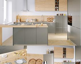 3D model Kitchen Nolte Corona 19Q Legno 59C corona PBR