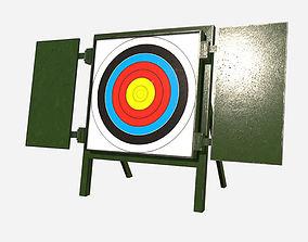 3D asset Low Poly PBR Archery Target