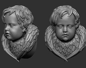 Angel Head art 3D print model