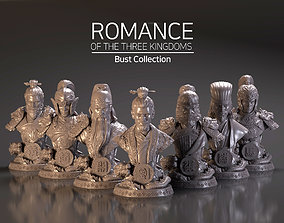 Bust of Romance of the Three Kingdoms 3D