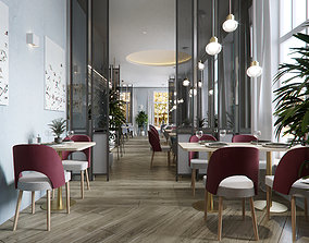 stool 3D Restaurant interior design