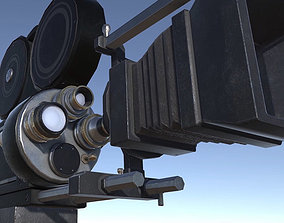 3D model Lights Cameras and Action Blockbuster Movie Set