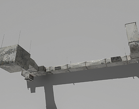 Old Air ducts modular ventilation system 3D asset