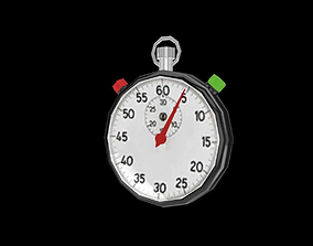 3D model low-poly Stopwatch