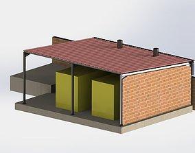 3D model Shelter steel