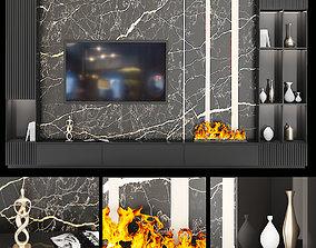 3D model TV Wall Set