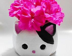 Cute Cat Pot 3D printable model