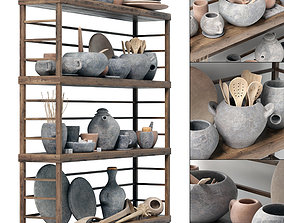 3D model Dishes clay rack n4