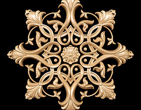 3D model Classic style carving rosette