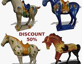 Horse Statuettes Collection volume 6 3D model
