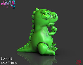 Sad T Rex Timelapse and Model