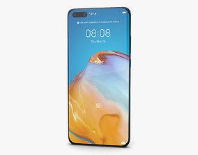 Huawei P40 Pro Deep Sea Blue 3D