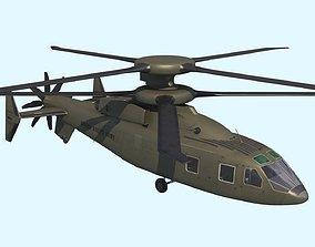 3D model Sikorsky Boeing SB 1 Defiant helicopter