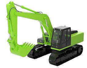 3D Excavator 1 Untextured