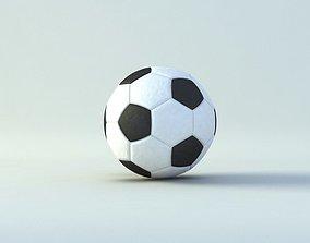3D asset low-poly Soccer Ball
