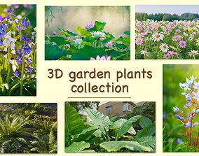PBR 3D garden plants collection vol01