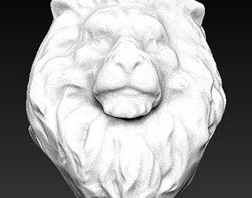3D printable model lion statue tiger