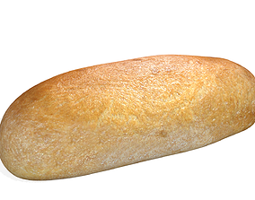 White Loaf of Bread 2 Game Ready 3D asset