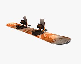 Snowboard 3D asset