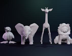 African Plains Animals 3D