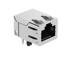 Ethernet Female Module 3D model