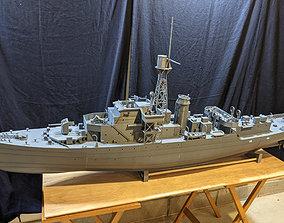 wwii 1 48 Castle Class Corvette RC Model Ship