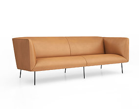 3D Dandy leather sofa by Blu Dot