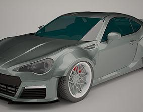 3D asset game-ready Subaru BRZ RocketBunny