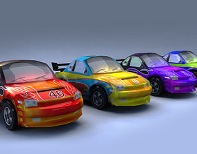 3D asset Low Poly Cars for Games