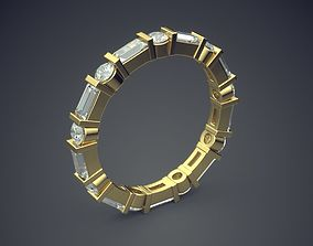 3D print model Unique Design Golden Engagement Ring With