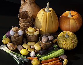 Vegetables dining-room-houseware 3D