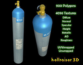 3D model Oxygen Tank - Textured