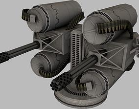 3D model realtime Bulletstorm gun variations