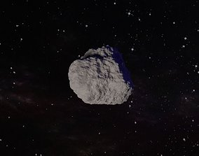 3D model low-poly Asteroid