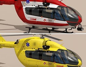 3D model EC145 air ambulance