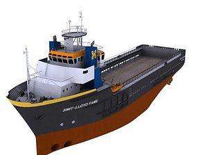 Platform Supply Vessel - 01 - 3D model