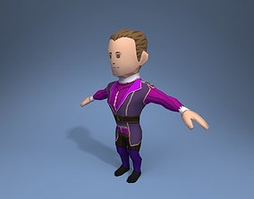 Medieval character archduke 1 3D model