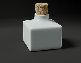 3D asset Porcelain ink bottle