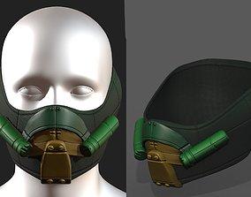 Gas mask respirator scifi futuristic 3d realtime