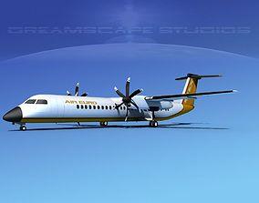 3D Dehaviland DHC-8 400 Air Euro Charter