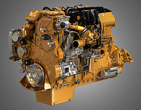 CT15 Heavy Duty Truck Engine - 6 Cylinder Diesel Engine 3D