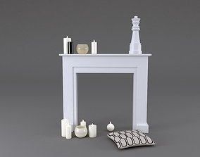3D Fireplace Mantel Freeport MAISONS DU MONDE