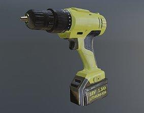 Drill 3D model VR / AR ready PBR