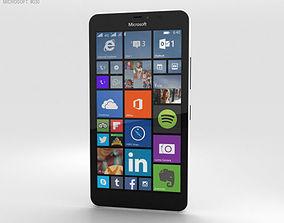 Microsoft Lumia 640 XL Matte White 3D model