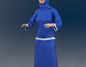 3D model Arabic woman real cloth simulation loop 1