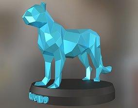 Poly Leopard 3D printable model