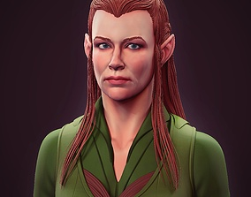 3D Tauriel Evangeline Lilly bust High poly Zbrush