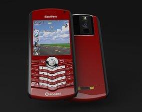 BlackBerry Rogers Pearl 8100 Cellphone 3D model