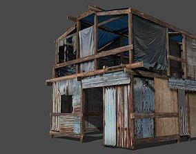 Lowpoly shanty house 3D model