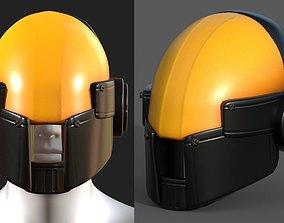 realtime Helmet scifi military combat 3d model low poly
